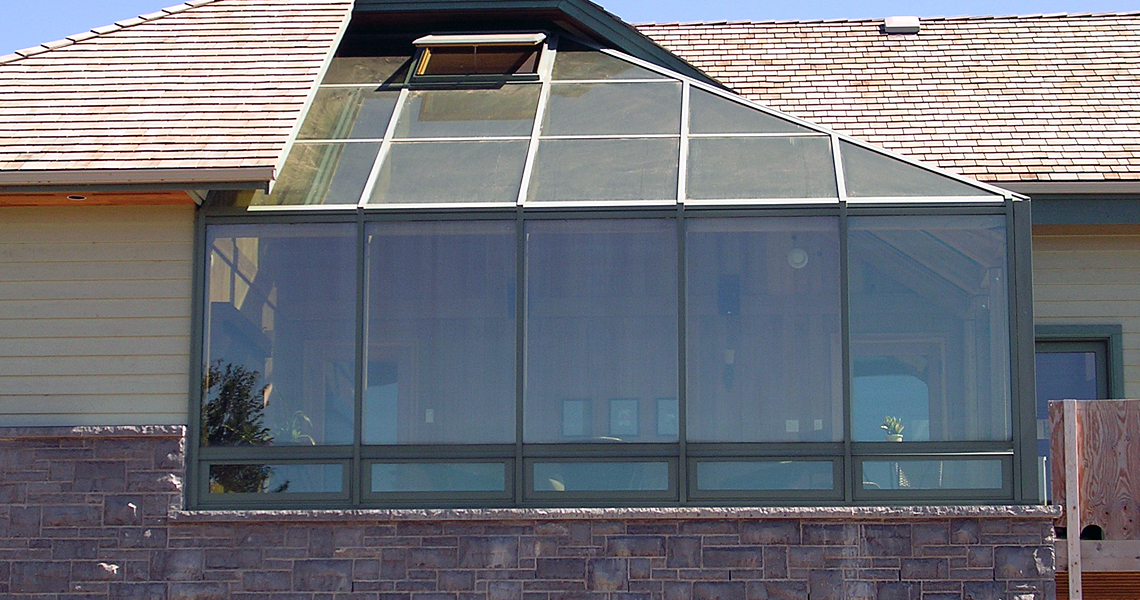 Garden Glass Windbreak
